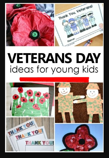 Happy Veterans Day 2021 Ideas for Kids and Children